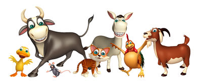Farm animal collection Royalty Free Stock Photography