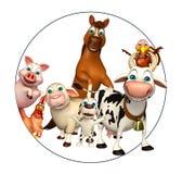 Farm animal collection Royalty Free Stock Photo