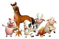 Farm animal collection Stock Photo