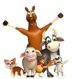 Farm animal collection Stock Image
