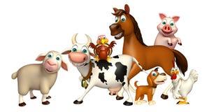 Farm animal collection Stock Photos