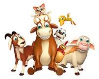 Farm animal collection Royalty Free Stock Image