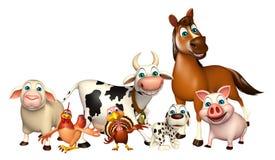 Farm animal collection Royalty Free Stock Photos