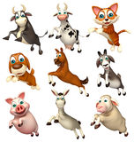 Farm animal collection Stock Images