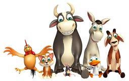 Farm animal collection Stock Photography
