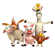 Farm animal collection Royalty Free Stock Images