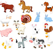 Farm Animal Collection Set Royalty Free Stock Image