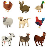 Farm Animal Icons Royalty Free Stock Photography