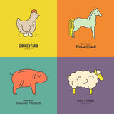 Farm Animal Logo Royalty Free Stock Photography