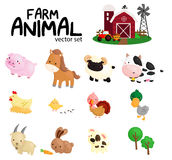 Farm animal no background Royalty Free Stock Images