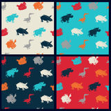 Farm animal pattern set Royalty Free Stock Image