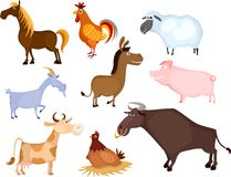 Farm animal set vector illustration