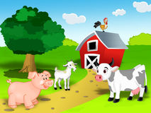 Farm animal set royalty free illustration