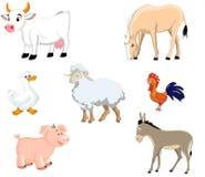 Farm animal set. Illustration of isolated farm animals Royalty Free Stock Photos
