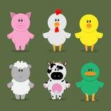 Farm animal set Royalty Free Stock Photos