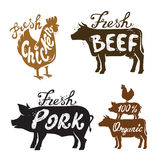 Farm Animal and text. Vector image of Farm Animal and text icon Stock Photography