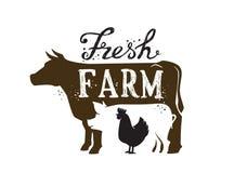 Farm Animal and text Royalty Free Stock Photo