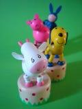 Farm animal toys stock photos