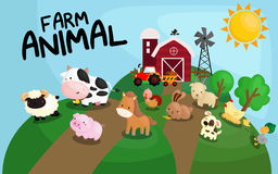 Farm animal royalty free illustration
