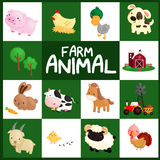 Farm animal vector set Royalty Free Stock Photo