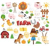 Farm animal vector set. A farm animal vector set with many object vector illustration