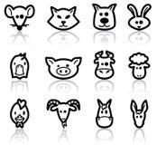Farm animals. Domestic animals set, illustration Vector Illustration