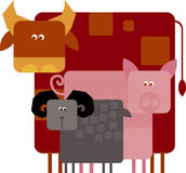 Farm animals. Vector illustration of farm animals Royalty Free Stock Image