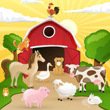 Farm with animals Royalty Free Stock Image