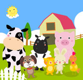 Farm animals. Illustration of cute farm animals Royalty Free Stock Photo