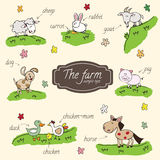 Farm animals. Use the design of children's books Royalty Free Stock Images