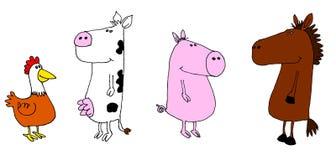 Farm animals. A color cartoon of farm animals Royalty Free Stock Photography