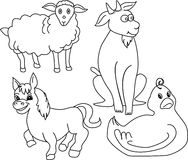 Farm animals royalty free illustration