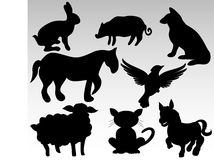 Farm animals. Vector illustrations of farm animals Royalty Free Stock Photography