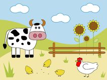 Farm animals Royalty Free Stock Photos
