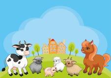 Farm animals background Stock Images
