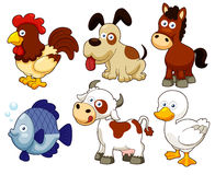 Farm animals cartoon royalty free illustration