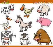 Farm animals cartoon set Royalty Free Stock Photo