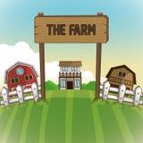 Farm animals cartoons, vector illustration Royalty Free Stock Photo