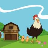 Farm animals cartoons, vector illustration