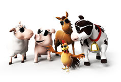 Farm Animals character Stock Photography