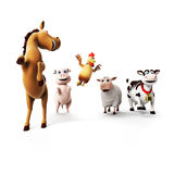 Farm Animals character Stock Image
