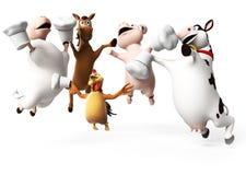 Farm Animals character Royalty Free Stock Image