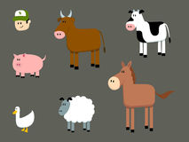 Farm Animals Collection Stock Photo