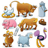 Farm Animals Collection Royalty Free Stock Images