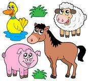 Farm animals collection 5 Royalty Free Stock Images