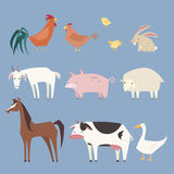 Farm animals collection Stock Images