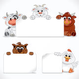 Farm Animals Collection. Vector Stock Image
