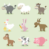 Farm animals collections Stock Photo
