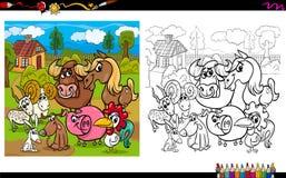 Farm animals coloring book Stock Photos