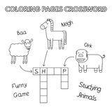 Farm Animals Coloring Book Crossword Royalty Free Stock Image